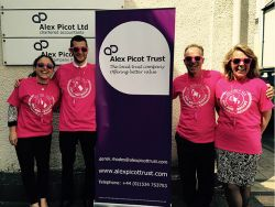 Alex Picot Trust are taking part in the 25th Round the Island Walk on Saturday 20 June 2015